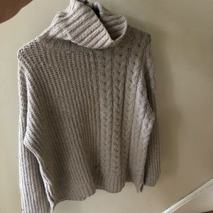 John +Jenn cowl neck boxy sweater